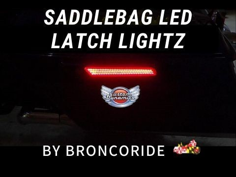 Saddlebag LED Latch Lightz Install by Broncoride