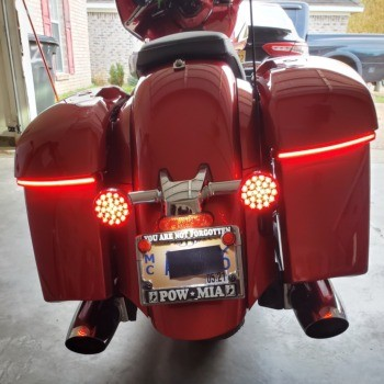photo by Kalvin - LED Saddlebag Lights for Indian®