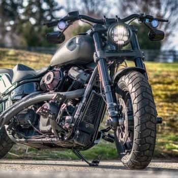 photo by Mike McDermott - Using ProBeam Headlamp 2018 Harley Fat Bob