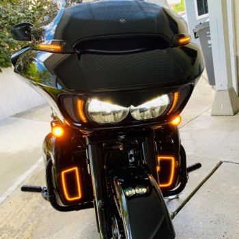 Custom Dynamics LED Dynamic Windshield Trim Black CD-RG-WT-15-B