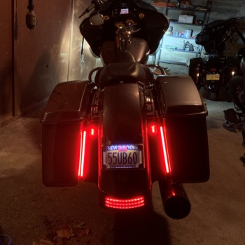 "Custom Dynamics Mega Red 14/"" Plasma LED Rods Pair Turn Signal Brake Lights"