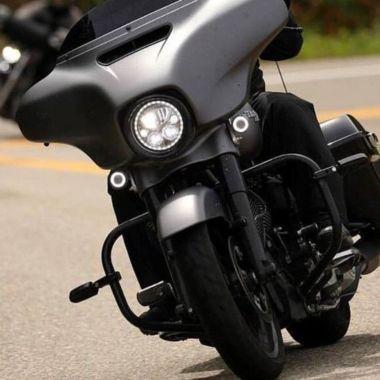 "Chrome 7/"" Headlight Lamp Trim Ring For Harley Electra Street Glide Touring Model"