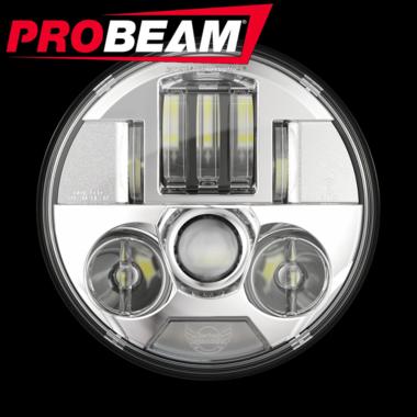 Chrome PB-7-C Custom Dynamics ProBEAM 7 LED Headlamp