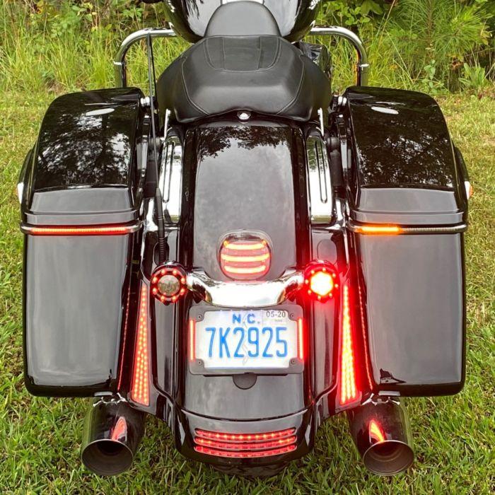Custom Dynamics Sequential Low Profile LED Saddlebag Lights 14-20 Harley Touring