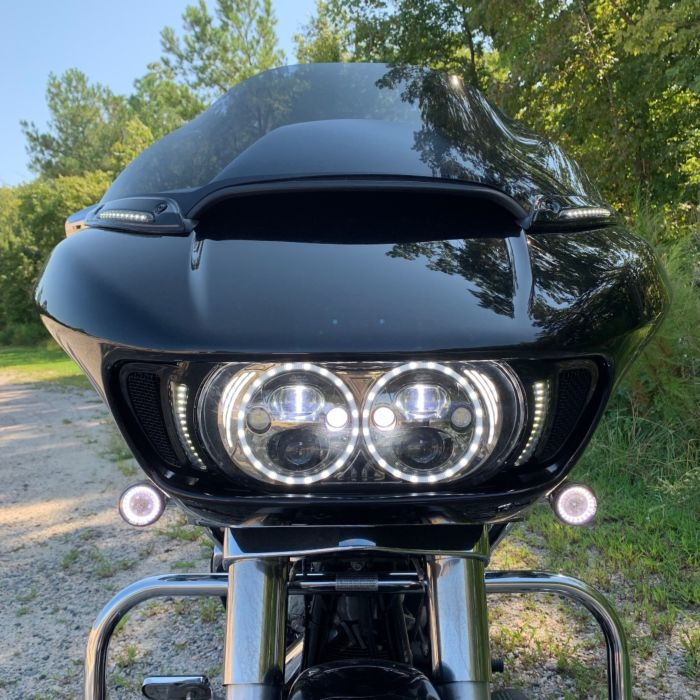Custom Dynamics Gloss Black LED Windshield Trim