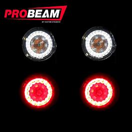 Smoke Harl Probeam Bullet Turn Signal Lenses PRO-B-LENS-SMK Custom Dynamics