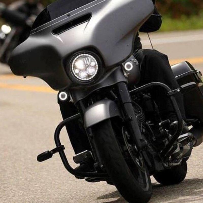 """7"""" TruBEAM® LED Halo Headlamp for Harley-Davidson® & Yamaha Motorcycles"""