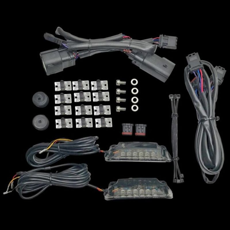 Saddlebag Rail LED Light Bars for 2010-2013 Street Glide & Road Glide Custom