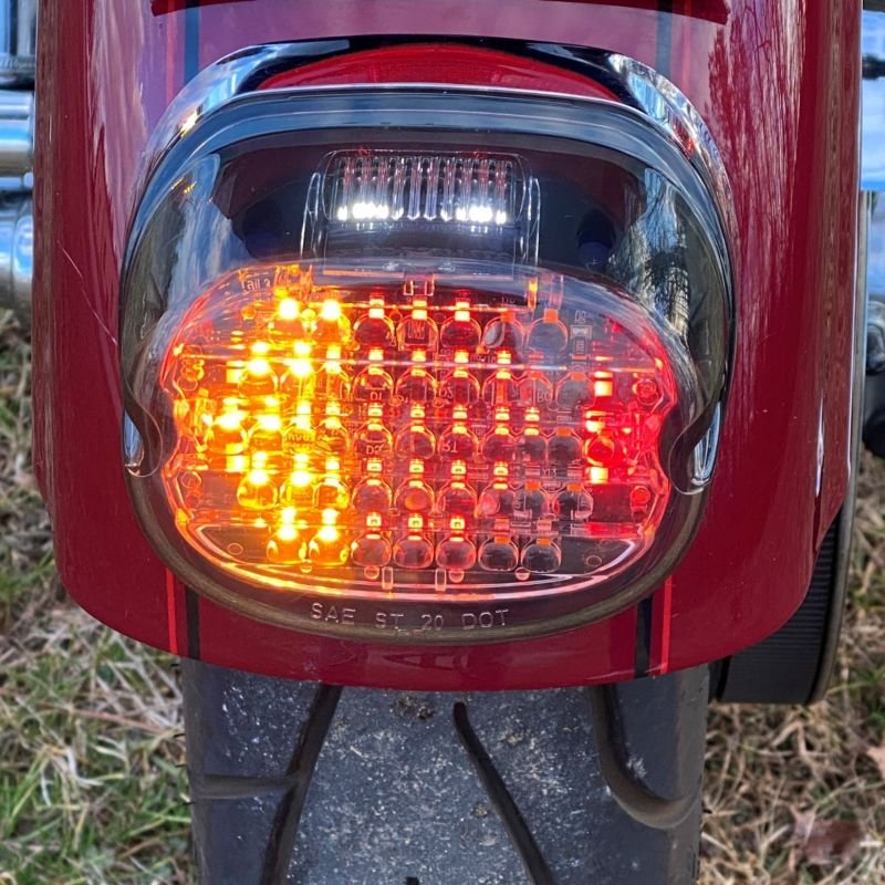 Custom Dynamics® Integrated Low Profile LED Taillight with Auxiliary Turn Signals