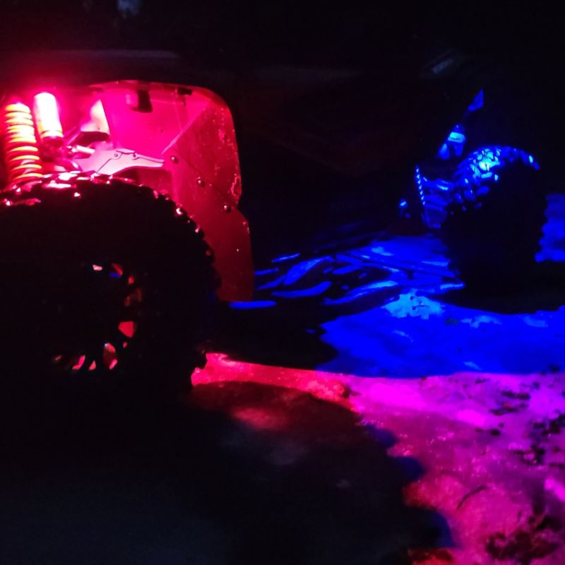 Color Changing LED Rock Light Kit with Bluetooth Controller