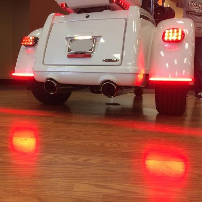 Low Profile LED Fender Lights for Harley-Davidson® Tri Glide Models