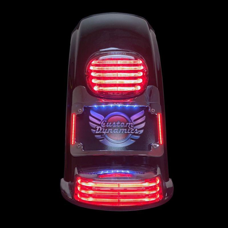 Turn Signal Eliminator Kit with Tri Radius Illuminated Plate Frame for H-D™