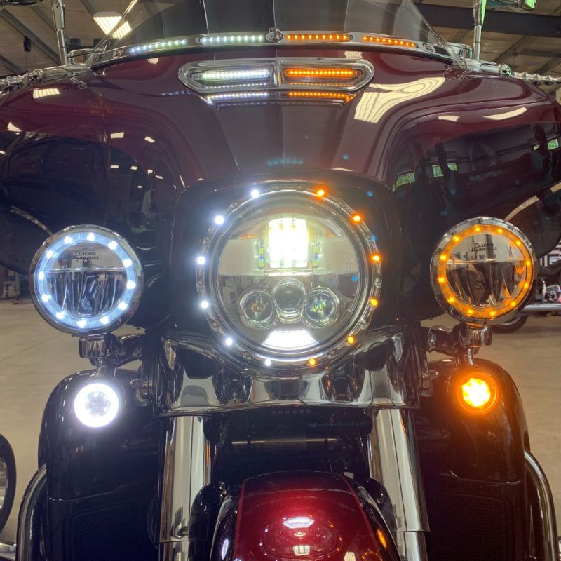 """TruBEAM® 4.5"""" Amber/White Halo Passing Lamps 2014-2021 H-D™ Models"""