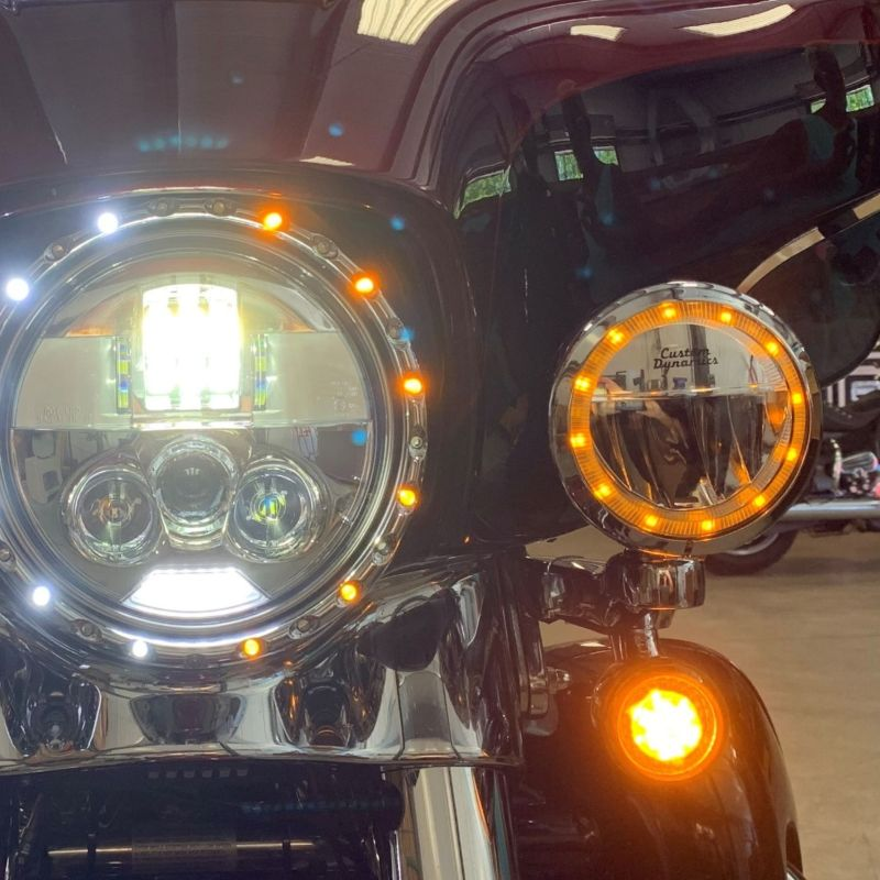 """TruBEAM® 4.5"""" Amber/White Halo Passing Lamps 2006-2013 H-D™ Models"""