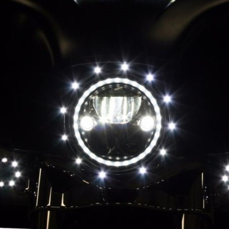 "7"" Headlight LED Trim Ring for 1996-2005 Harley-Davidson® Motorcycles"