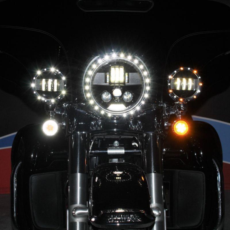 """4.5"""" Passing Lamp Trim Rings for 2014-2021 H-D™ Models"""