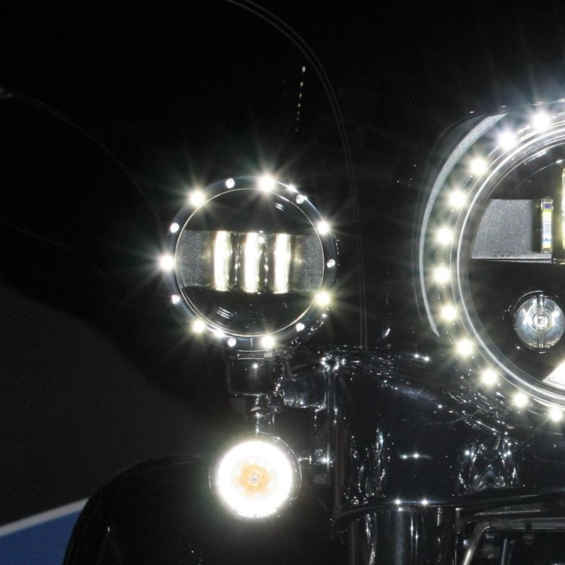 """4.5"""" Passing Lamp Trim Rings for 1996-2005 H-D™ Touring & 1993-2017 Softail® Models"""