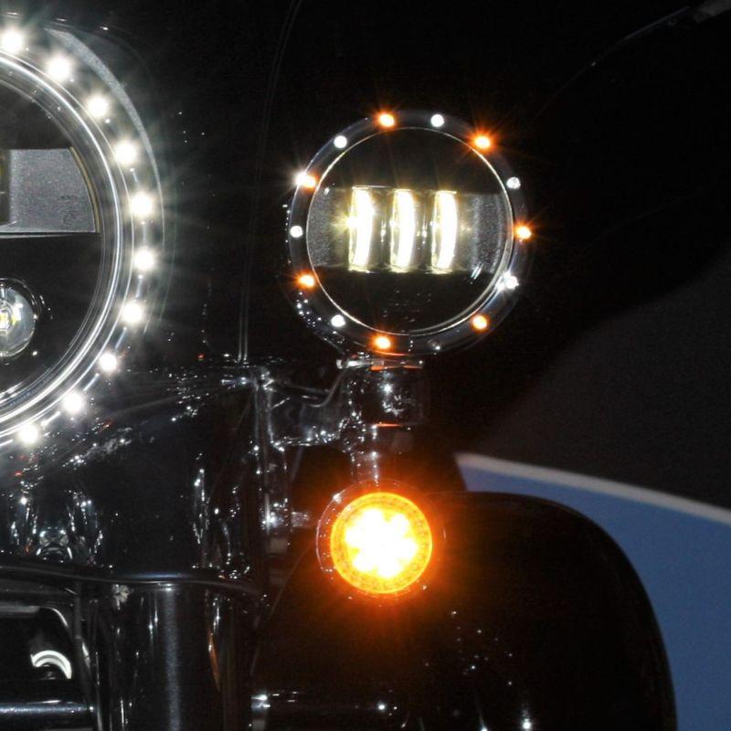 """4.5"""" Passing Lamp Trim Rings for 2006-2013 H-D™ Models"""