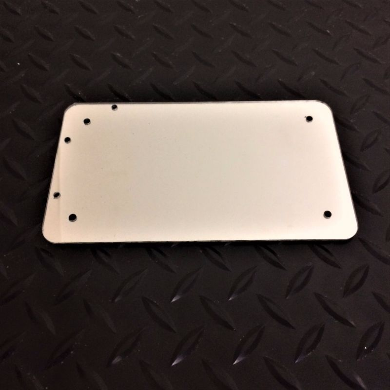 Plastic License Plate Backing Plates