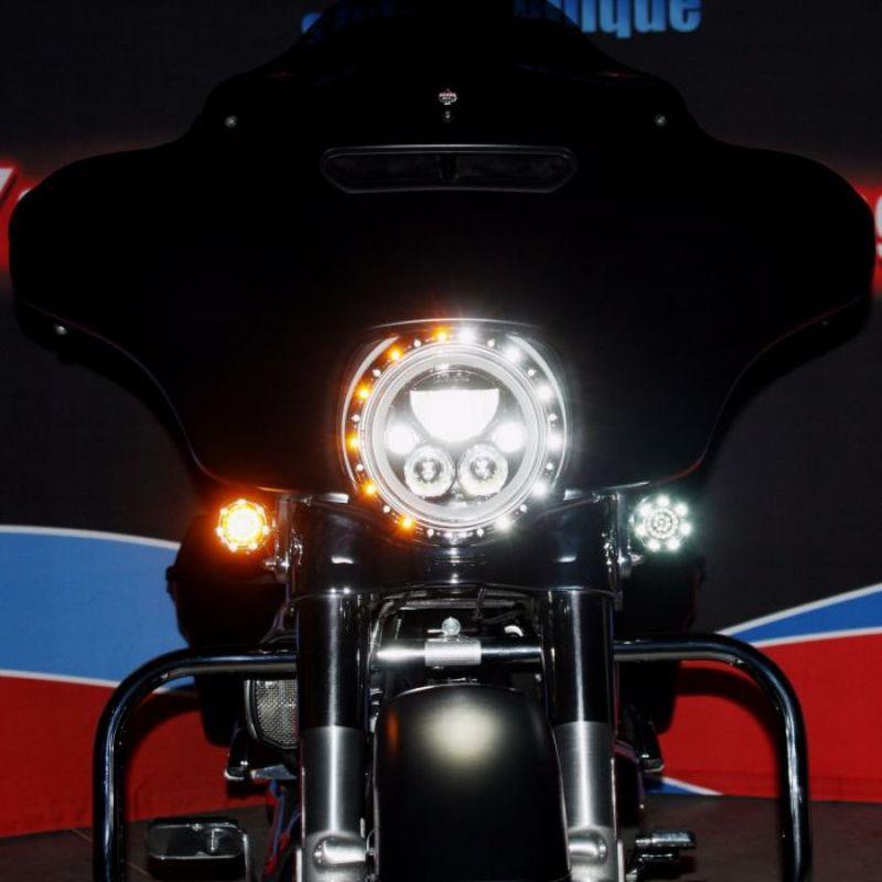"7"" Headlight  LED Trim Ring for 2006-2013 Harley-Davidson® Motorcycles"