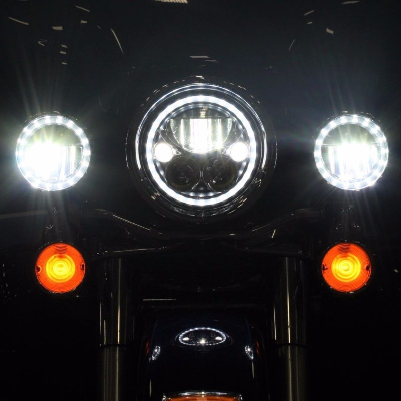 """TruBEAM® 4.5"""" Halo Passing Lamps for Harley-Davidson®"""