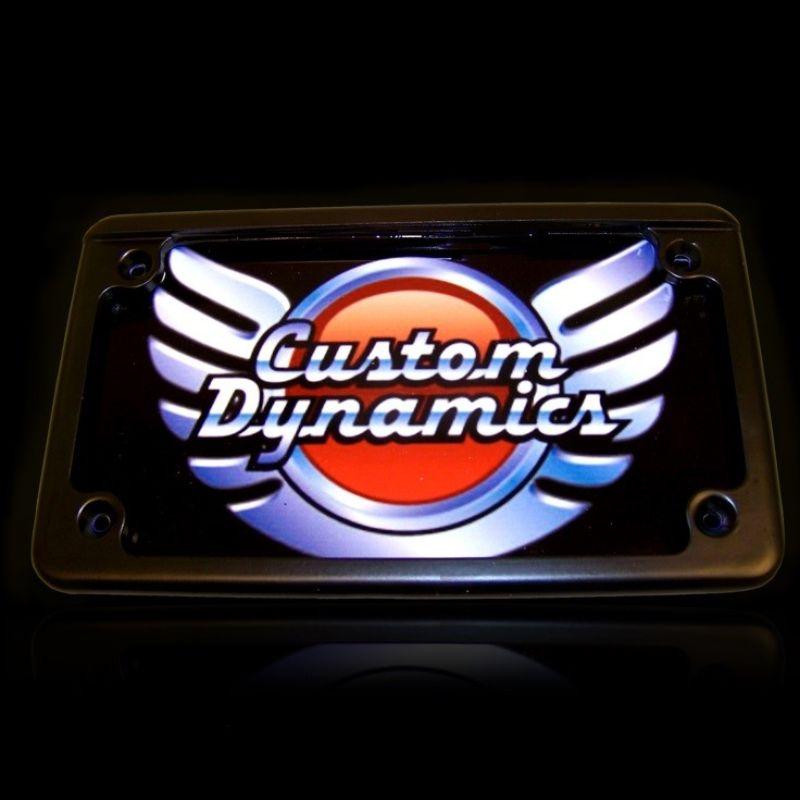 Horizontal Motorcycle Plate Frames with LED Illumination