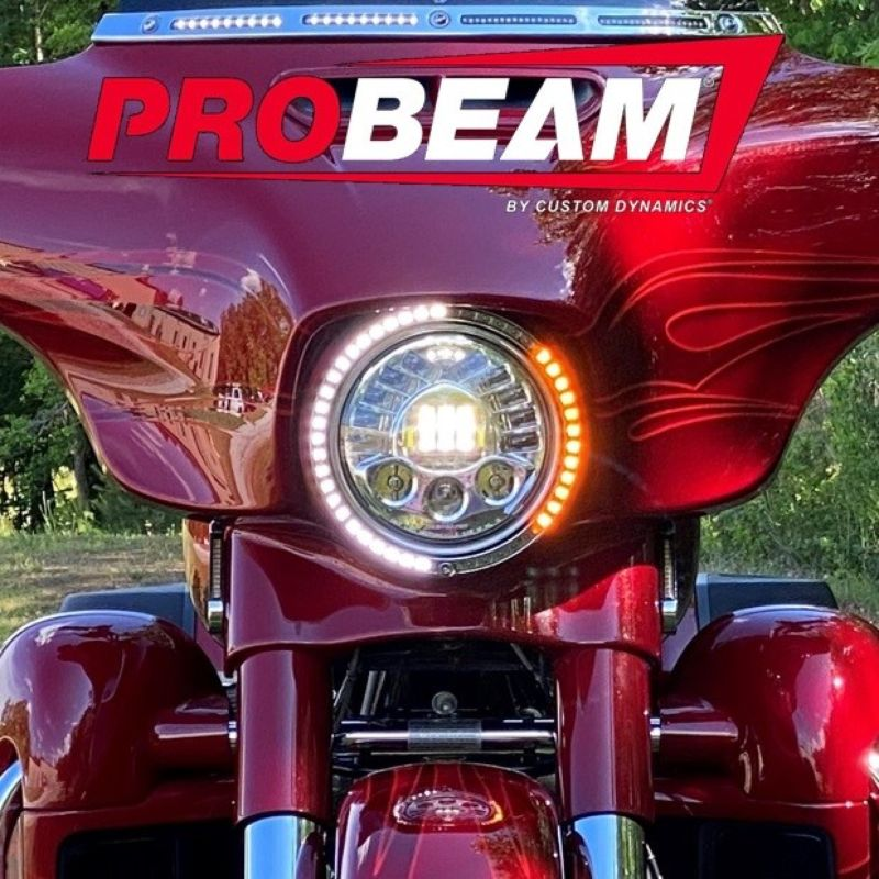 "ProBEAM® 7"" Headlamp Trim Ring with Turn Signals for 2014-2021 Harley-Davidson®"