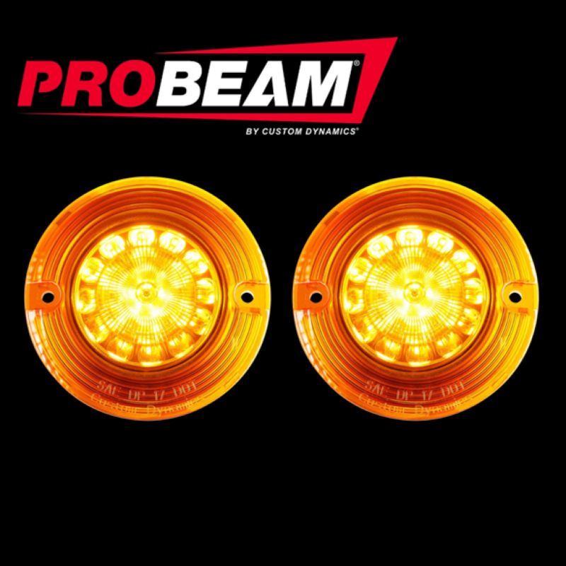 ProBEAM® Solid Amber Front 1157 LED Flat Turn Signals with Amber Lenses