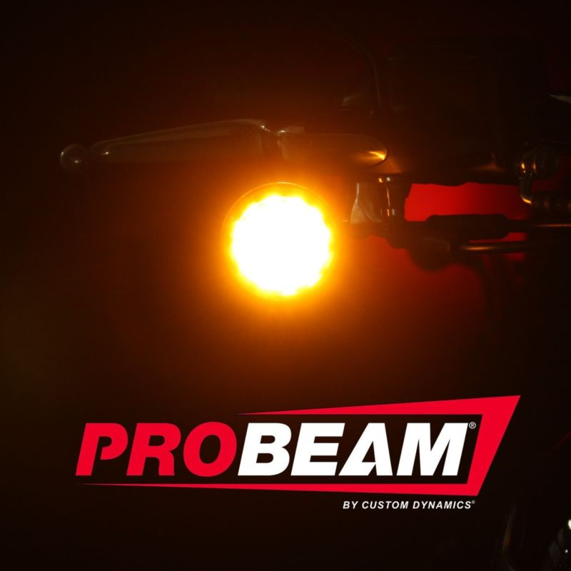 ProBEAM® Solid Amber 1157 LED Bullet Turn Signals with Amber Lenses