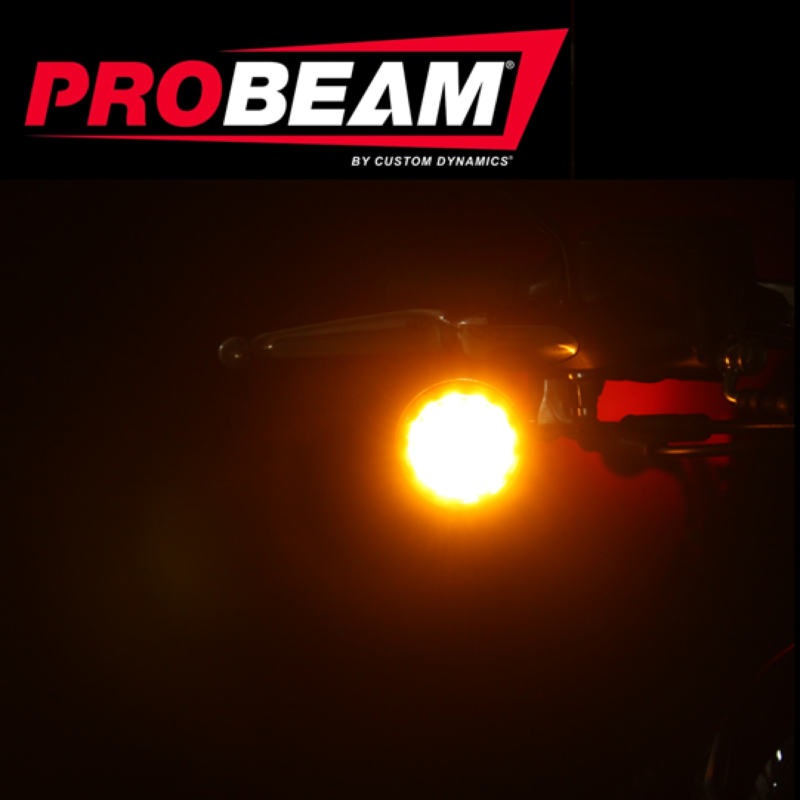 ProBEAM® Amber 1156 Rear Bullet LED Inserts with Amber Lenses
