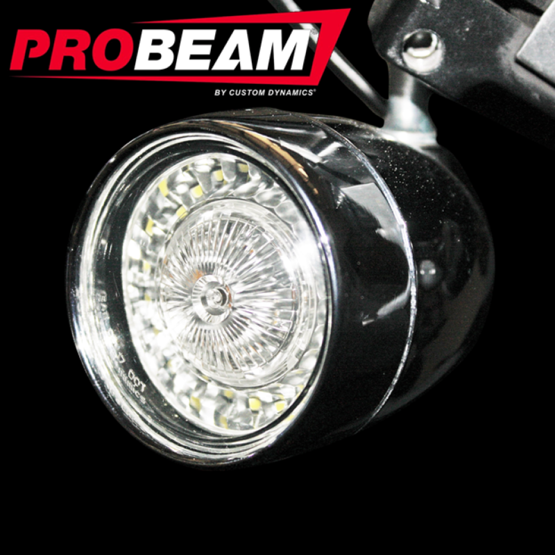 PROBEAM® Bullet Bezel BCM COMPLIANT TURN SIGNAL CONVERSION KIT (1156 REAR, 1157 FRONT) FOR HARLEY-DAVIDSON®