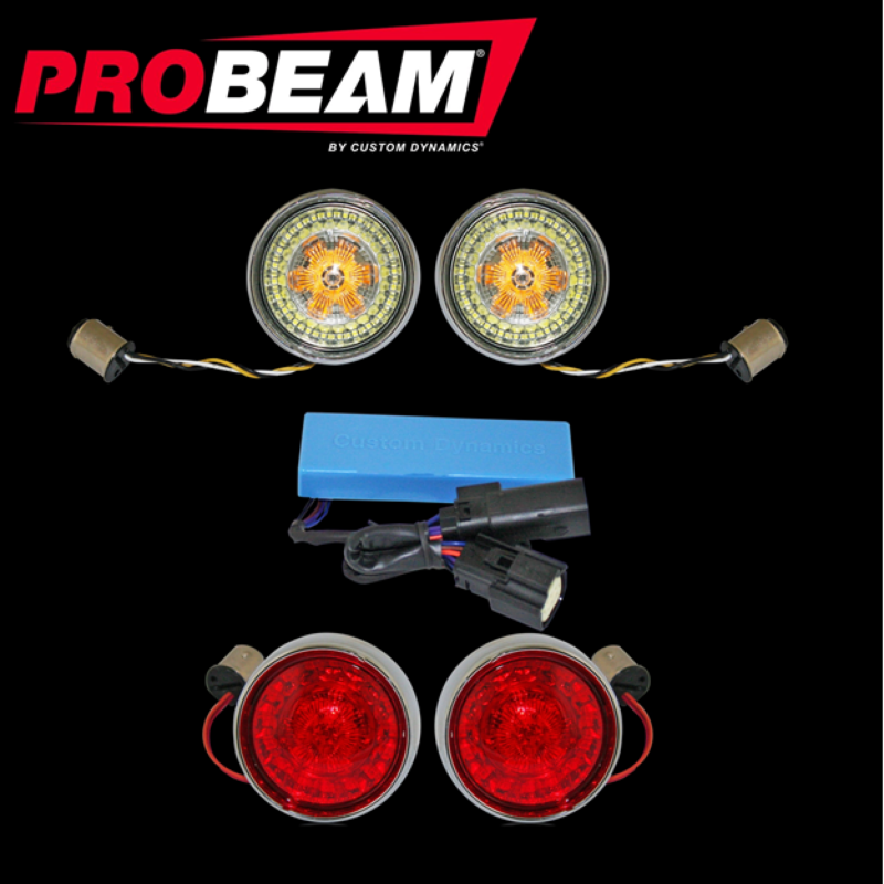 ProBeam® Sportster® Bullet Bezel TSSM Turn Signal Conversion Kit