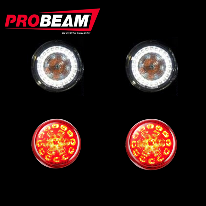 ProBeam® BCM Compliant Turn Signal Conversion Kit (1156 Rear, 1157 Front) For Harley-Davidson®