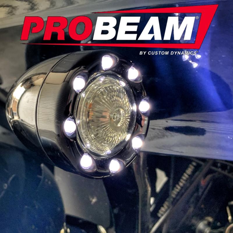 ProBEAM® Front 1156 Amber/White Bullet Ringz™ for International Models