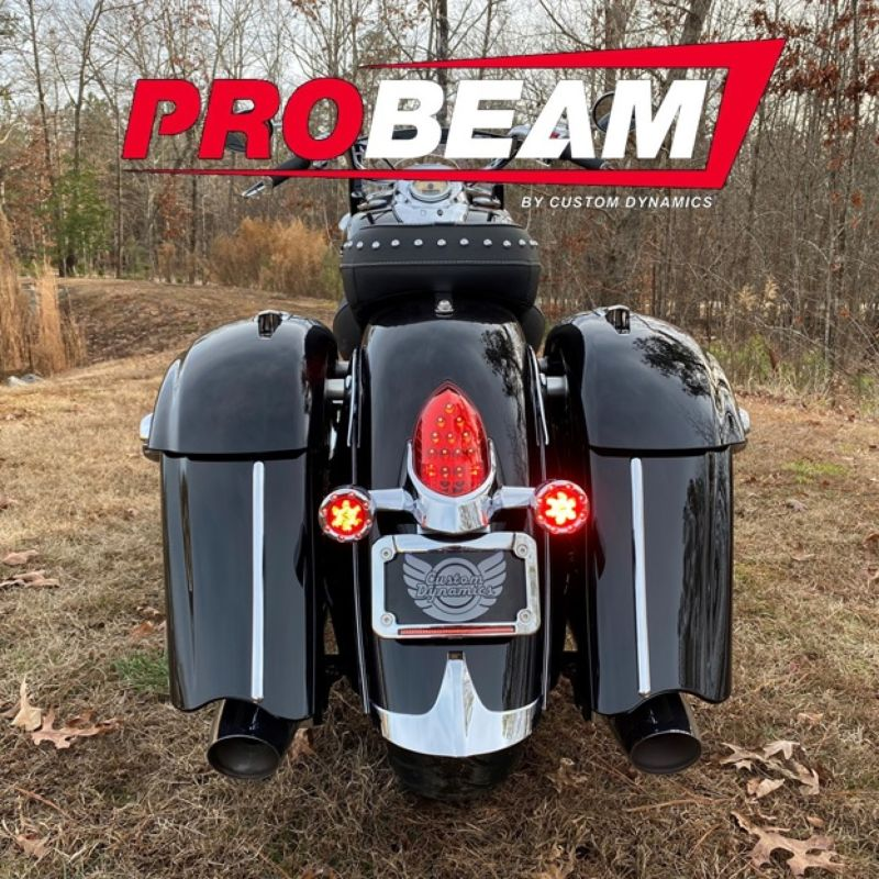 ProBEAM® Bullet Ringz™ Rear LED Turn Signals for Indian® Motorcycles