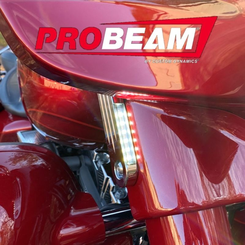 ProBEAM® Dynamic Strips™ Front Turn Signals for 06-21 FLHX, FLHXXX and FLHT H-D™ Motorcycles