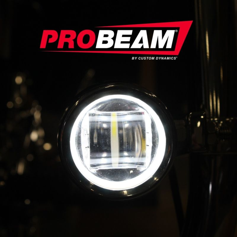 ProBEAM® Auxiliary LED Halo Fog Lamps for 14-21 H-D™ Touring Motorcycles