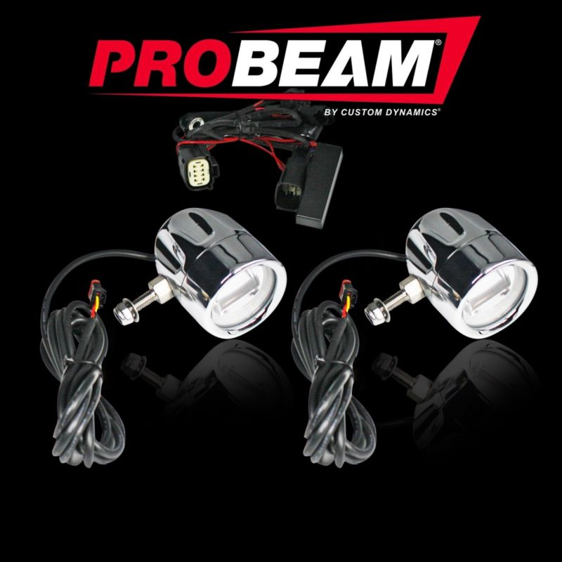 ProBEAM® LED Halo Motorcycle Fog Lamps for 09-13 FLHXSE FLTRXSE & FLHRSE