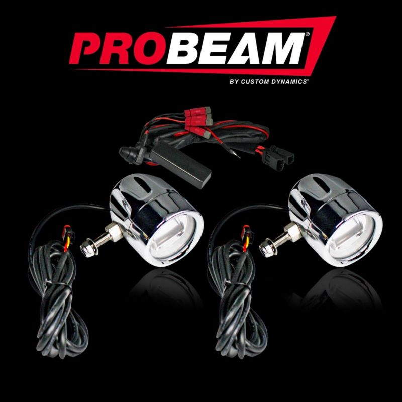 ProBEAM® Universal Auxiliary Motorcycle LED Halo Fog Lamps