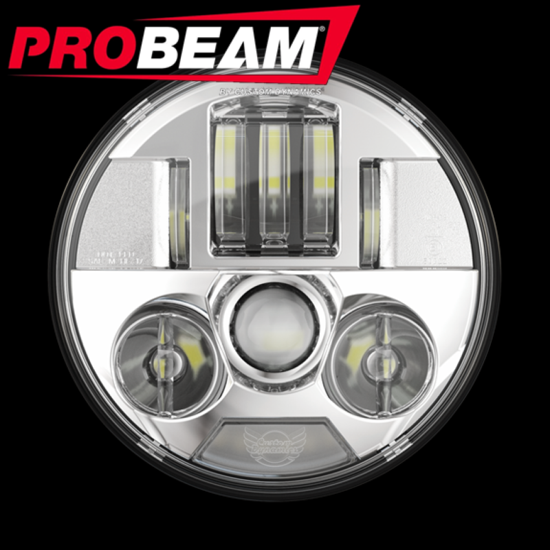 """ProBEAM® 7"""" LED Headlamp for 2015-2021 Indian® Motorcycles"""