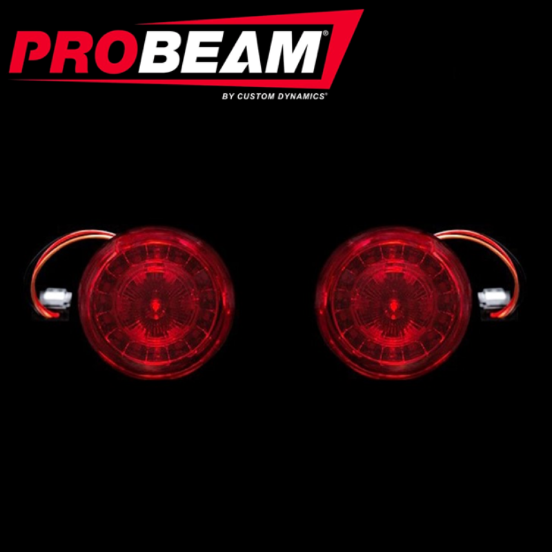 ProBEAM® Red Ring JAE LED Inserts with Red Lenses for 2018-2021 FLSB & 2016-2017 FXSE
