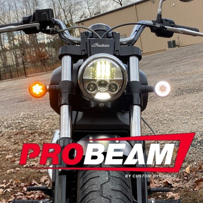 ProBEAM® Dynamic Ringz™ Front LED Turn Signals for Indian® Scout