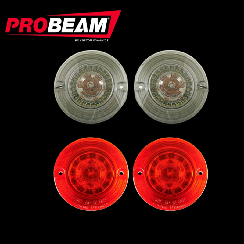 Flat ProBeam® BCM Compliant Turn Signal Conversion Kit (1156 Rear, 1157 Front) For Harley-Davidson®