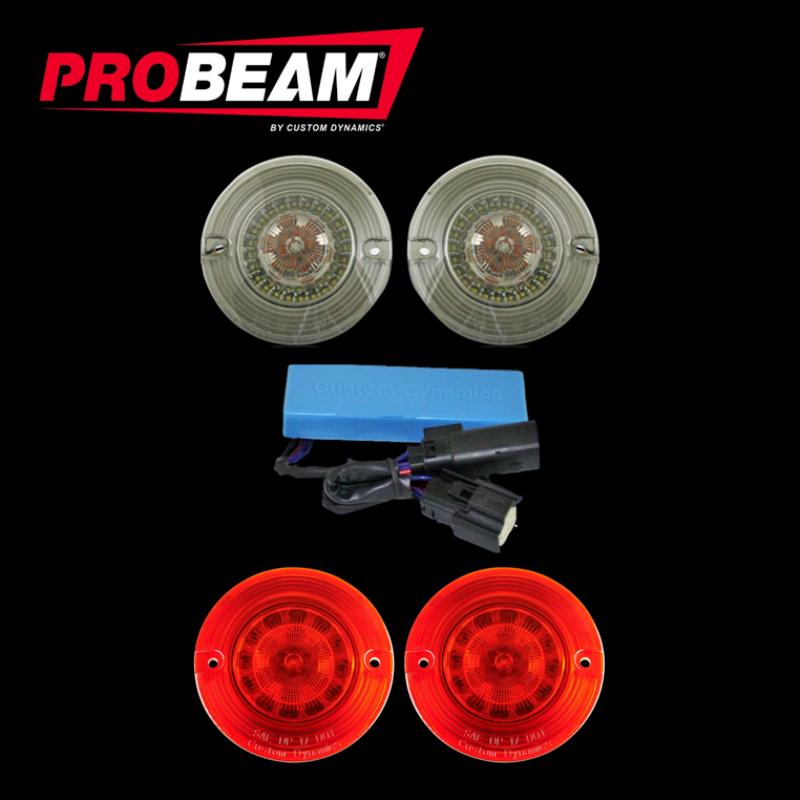 Flat ProBEAM® TSSM Turn Signal Conversion Kit (1156 Rear, 1157 Front) for Harley-Davidson®