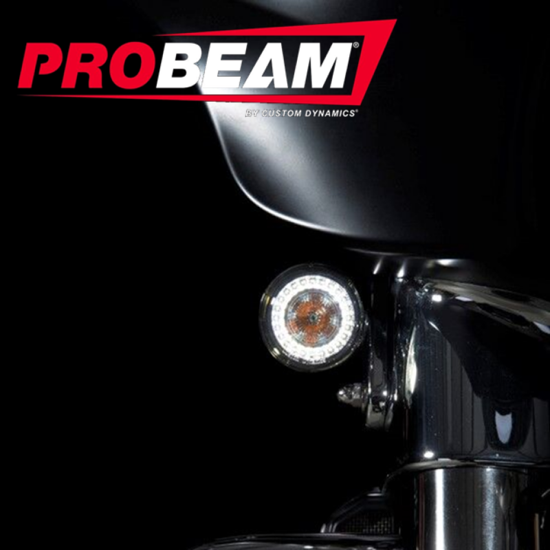 ProBEAM® Amber/White Front LED Bullet Turn Signals with Smoked Lenses