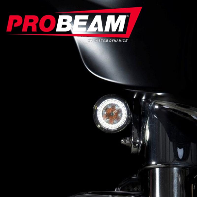 ProBEAM® JAE Amber/White LED CVO™ Turn Signals with Smoked Lenses