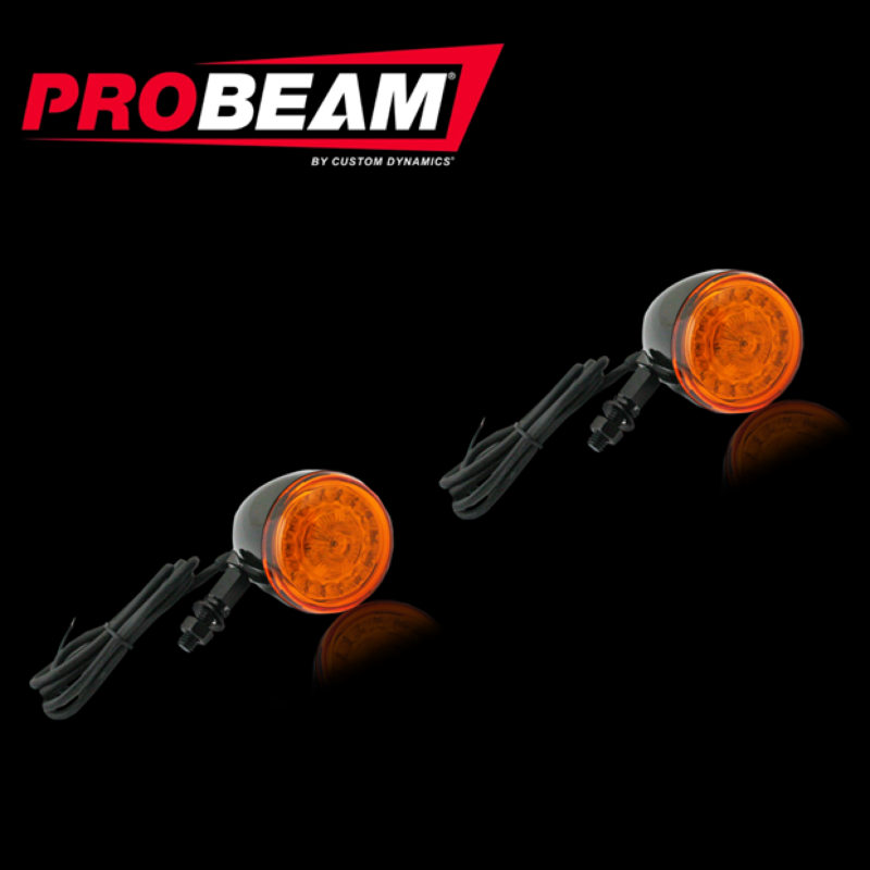 Complete ProBEAM® Solid Amber Universal Motorcycle Turn Signals