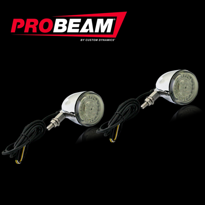 Complete ProBEAM® Dynamic Ringz™ Universal Motorcycle Turn Signals