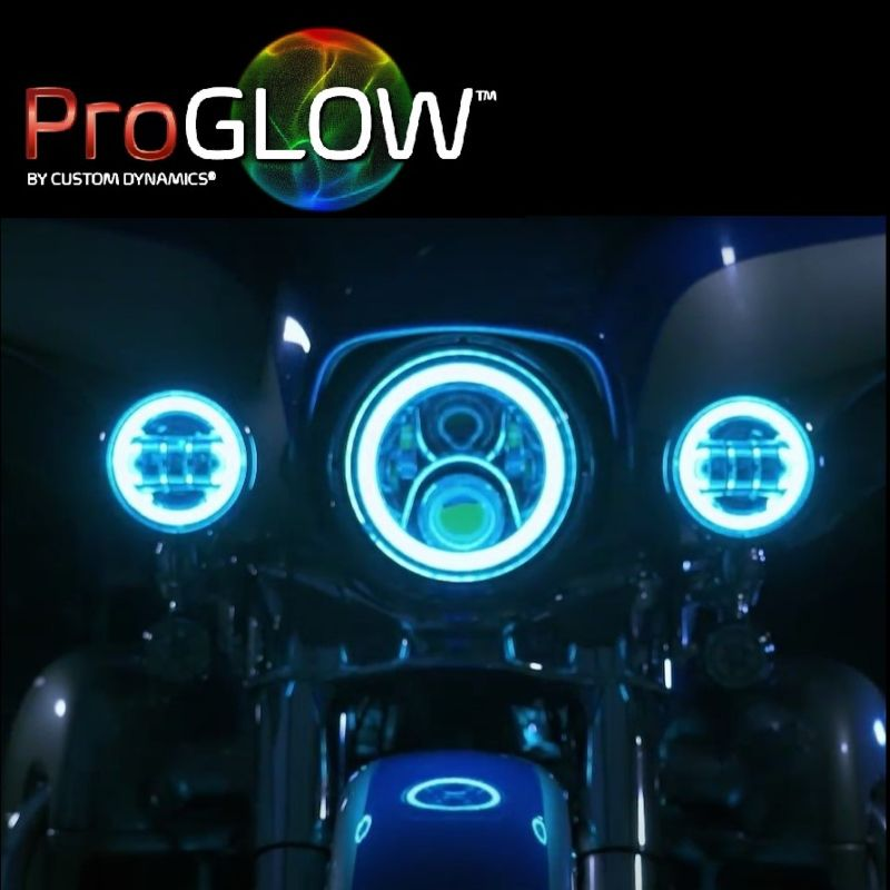 """ProGLOW™ 4.5"""" Motorcycle Passing Lamps with Color Changing Halo"""