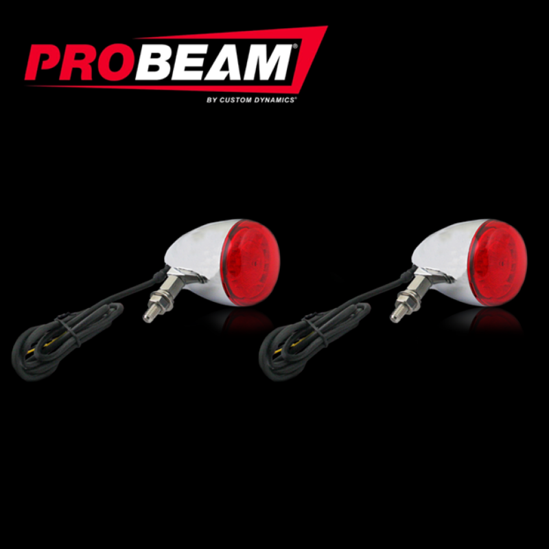 Complete ProBEAM® Red Universal Motorcycle Turn Signals